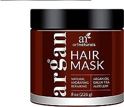 ArtNaturals Argan Oil Hair Mask- (8 Oz/226g)- Deep er- pure Organic Jojoba Oil, Aloe Vera & Keratin- Repair Dry, Damaged Or Color Treated Hair After Shampoo- Sulfate