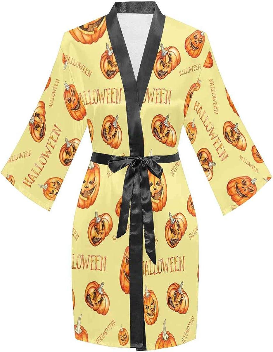 InterestPrint Long Sleeve Robe with Kimono Bathrobe Colorado Springs Mall New item Sleeves for