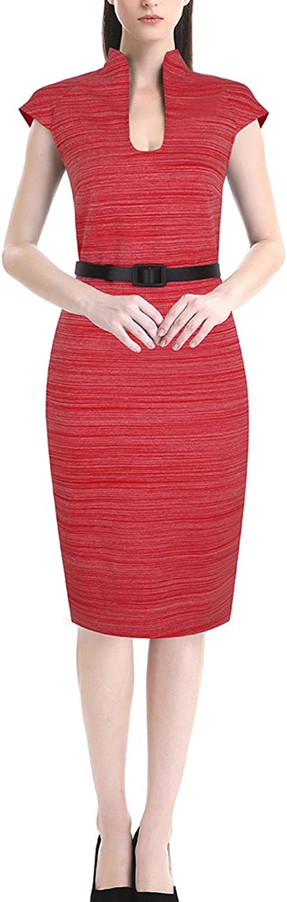 AnKoee Ladies Bodycon Casual Dress Business Party Office Dresses