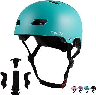 Skateboard Helmet Bike Helmet Sport Helmet for Kids Youth Adults, Adjustable Bicycle Helmet for Skating Cycling Scooter for Boys Girls CPSC Certified