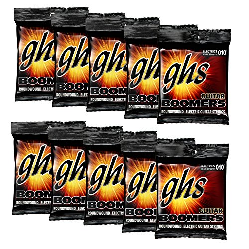 GHS - Boomers Nickel-Plated Steel Electric Guitar Strings (10-Pack)