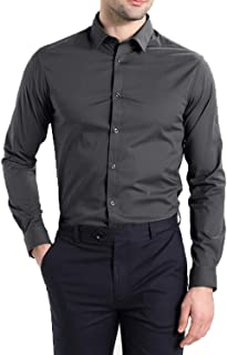 STYLETHIC Men's Cotton Plain Slim Fit Casual Shirt Full Sleeves Formal Shirt