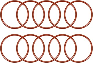 uxcell Silicone O-Ring, 40mm Outside Diameter, 35.2mm Inner Diameter, 2.4mm Width, VMQ Seal Rings Sealing Gasket Red, 10PCS