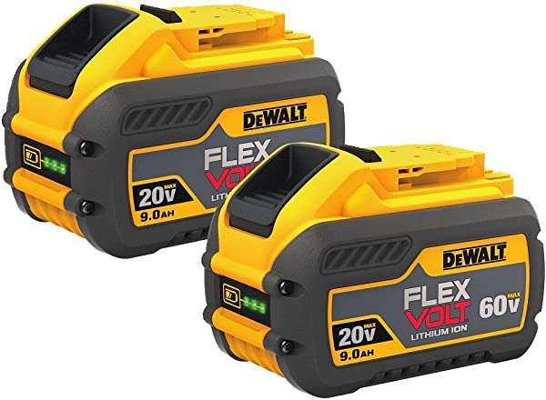DEWALT DCB609 2 20V 60V MAX FLEXVOLT 9Ah Battery 2 Pack
