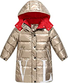 Rosiest Children Girls Winter Bow Windbreaker Coats Jacket Kid Zipper Outerwear Clothes