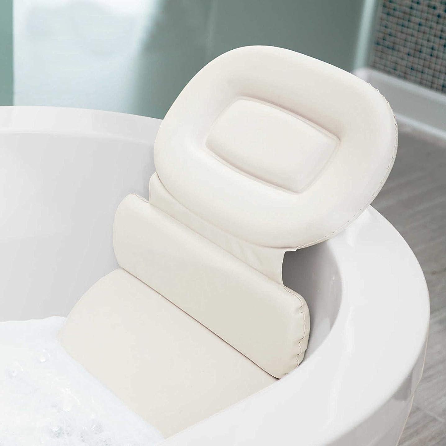 ベギン塗抹バレーボールOSVINO 防水 低刺激性 PU スパ バスピロー ヘッドレスト ネックショルダー サポート バスタブ バッククッション 7つの吸盤付き 15