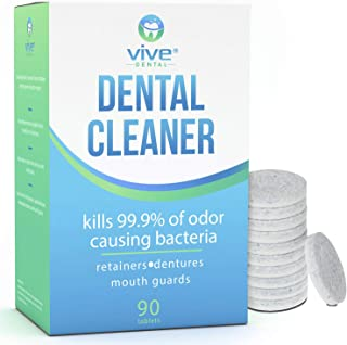 can you clean a mouthguard with denture cleaner