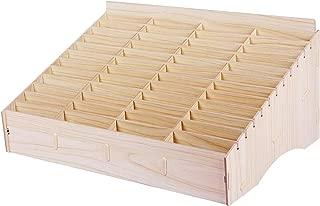 Kaisi 48 Grid Wooden Desktop Storage Box Mobile Phone Management Storage Box Creative Desktop Office Meeting Finishing Grid Multi Cell Phone Rack Display (48)
