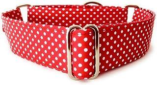 4GUAUS Collar Martingale para Perros - Modelo Lunares Rojo Mini