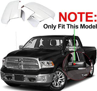 NINTE Fit for 2013-2018 Dodge Ram 2500/3500/HD 2013-2018 Dodge Ram 1500 Triple Chrome Plated Mirror Cover W/Turn Signal Cut-Outs