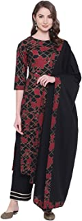 Khushal K Women's cotton straight Salwar Suit Set