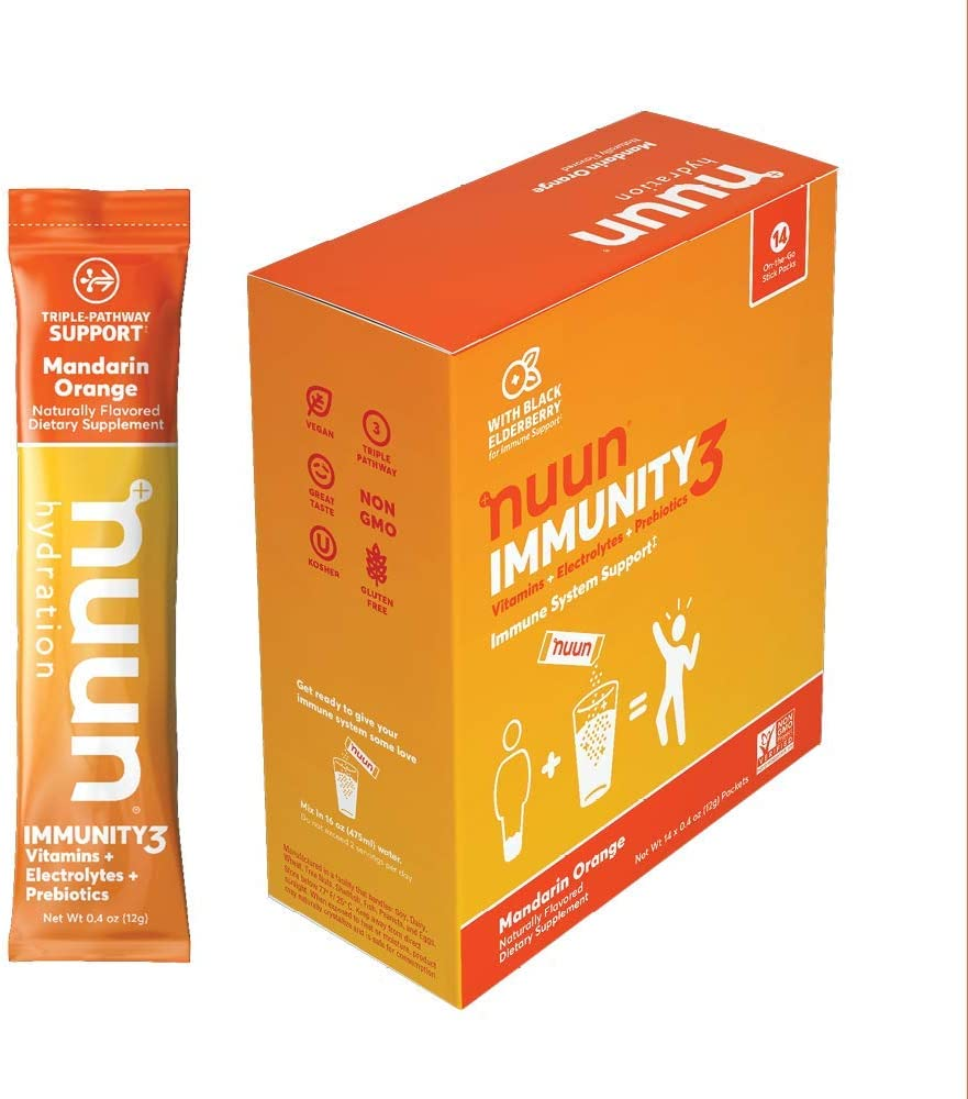 Nuun Immunity3 Electrolyte Powder quality assurance Vitamins Elderberry Factory outlet Prebio