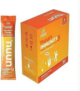 Nuun Immunity3, Electrolyte powder, Elderberry, Vitamins, Prebiotics, Zinc, Mandarin Orange, 14 count