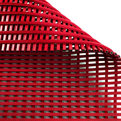 Antirutschmatte Aqua-Grip | für Nassbereiche wie Schwimmbäder und Duschen | antimikrobiell | drei Farben, viele Größen (rot, 90x400cm)