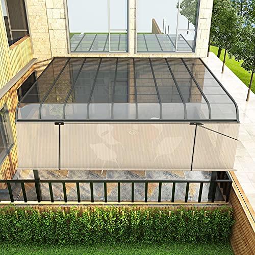 GGYMEI Cortina Enrollable Exterior, Sin Perforaciones Protección Solar Y Aislamiento Térmico. Bajar La Temperatura Pantalla De Privacidad Paño De Sombra Red De Sombreado