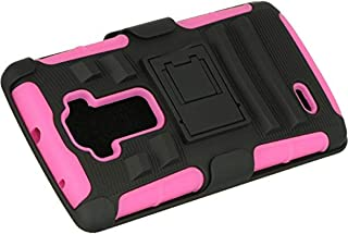 Dream Wireless LG G Flex 2 Hybrid Case with H Style Stand - Retail Packaging - Hot Pink/Black