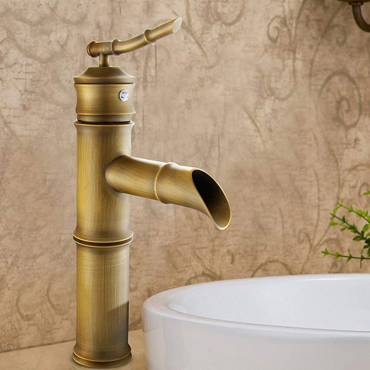 Oudan Continental antique basin faucet antique copper basin faucet basin classic Bamboo Arts Festival and cold water faucet single handle single hole the C of section 2.