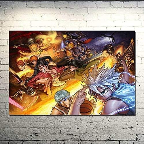 Cuadro En Lienzo Impresiones De La Casa 1 Dragon Ball Z Goku Batalla Anime Arte De Pared Póster De Imagen Modular Decoración Del Hogar 50X75Cm
