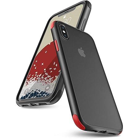 ONES 半透明 iPhone Xs/X ケース 耐衝撃 エアバッグ 超軍用規格 美しい 〔マット感·頑丈な背面+柔軟なTPUバンパー〕〔持ちやすい、滑り止め、すり傷防止、指紋や汗防止〕 Qi充電 DIY カバー