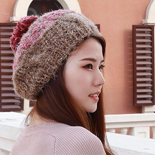 béret à l'anglaise tricot automne hiver beret pumpkin hat l'orthographe anglaise, 5563 Cap 5628, Brown/A
