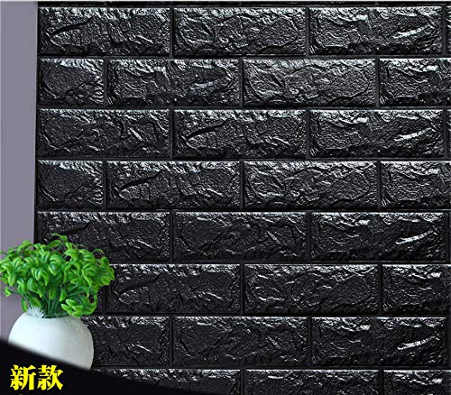 Papel de pared 3d Brick Wallpaper, Removable Stick Foam Wall Sticker For Living Room Kitchen Bedroom Home Office 27.5 * 30.3in/70 * 77 cm (5 Pieces Brick Brick Wallpaper 3D Effect