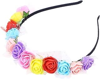 Lurrose Kids Princessrose Headband Flowers Floral Headpiece Girl Children Wedding Party