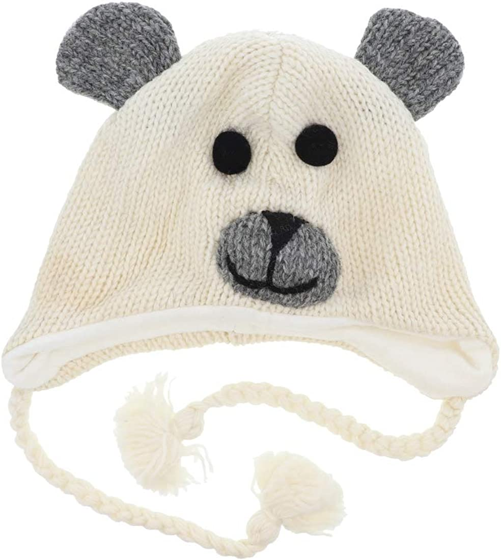 Wool Fleece low-pricing Lined 55% OFF Trapper Beanie Cap for Grey Animal Kids Pa Hat
