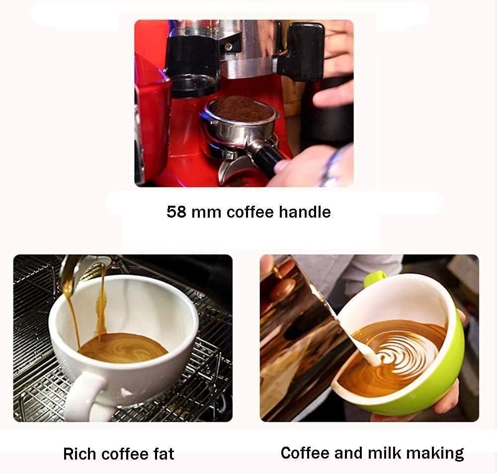 Qinmo Machine à café glacé, Machine Expresso, Barista Espresso Cafetière avec Bouton d'écran numérique, Fouet à Lait, Cappuccino Maker, Maker Latte (Color : Black) Red