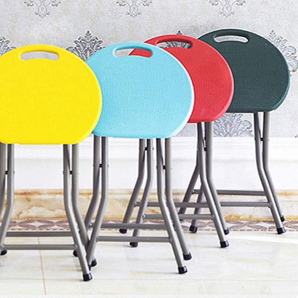 Tabouret pliant ménage mode créatif Portable loisirs de plein air chaise en plastique épais table à manger tabouret (Color : Pink) Red