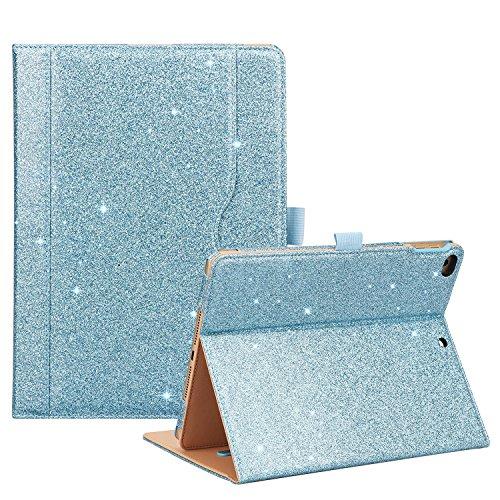 ProCase iPad 9.7 Case 2018/2017 iPad Case - Stand Folio Cover Case for Apple iPad 9.7 inch, Also Fit iPad Air 2 / iPad Air -Glitter Blue