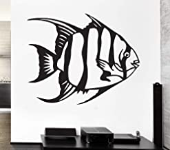supmsds Pegatinas de Pared de Peces para el vivero de bebés Marine Ocean Fishing Vinyl Decal Impermeable Decoración de la Pared del hogar Kids Room Wallpaper Z96X78CM