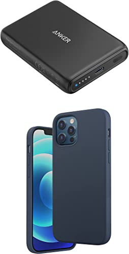 wholesale Anker Magnetic Silicone Case, 6.1 Inches for iPhone 12 (Dark Blue) Magnetic Wireless Portable Charger, discount PowerCore Magnetic 5K Wireless 5,000mAh sale Power Bank with USB-C Cable sale
