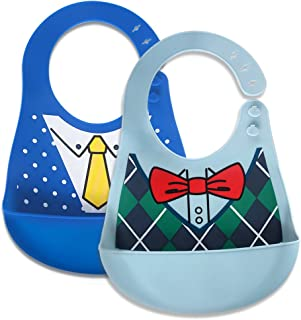 Baby Waterproof Bibs Silicone Bib for Babies and Toddlers with Various Styles