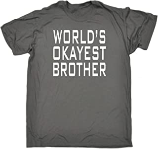 123t Mens - Worlds Okayest Brother T-Shirt