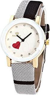 BEUU 2018 New Specials Irregular Stripes Belt Quartz Watch Women Men Fashion Love Leather Band Analog Round Wrist Watches Watch Wristwatch Fashion (Black)