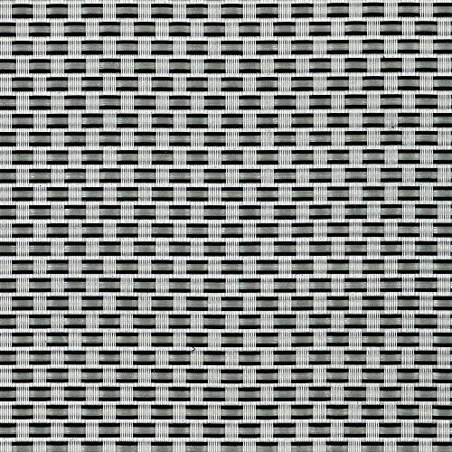 tenax Texstyle Rete Tessuta schermante frangivista, Argento-Nero, 1,00x5 m