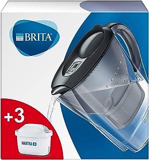 BRITA Marella koelkast waterfilterkan voor vermindering van chloor, kalk en onzuiverheden, Inclusief 3 x MAXTRA+ filterpat...