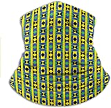 shenguang Bandana Geometric Vertical Borders Funky Colorful Native Kenya Design with Triangles Sun UV Protection Neck Gaiter Keep the Wind, Sun and Dirt off Your Face 10 x 11.6 Inch