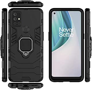 جراب QiongNi لهاتف OnePlus Nord N10 5G جراب واقي لهاتف OnePlus Nord N10 5G BE2029 أسود