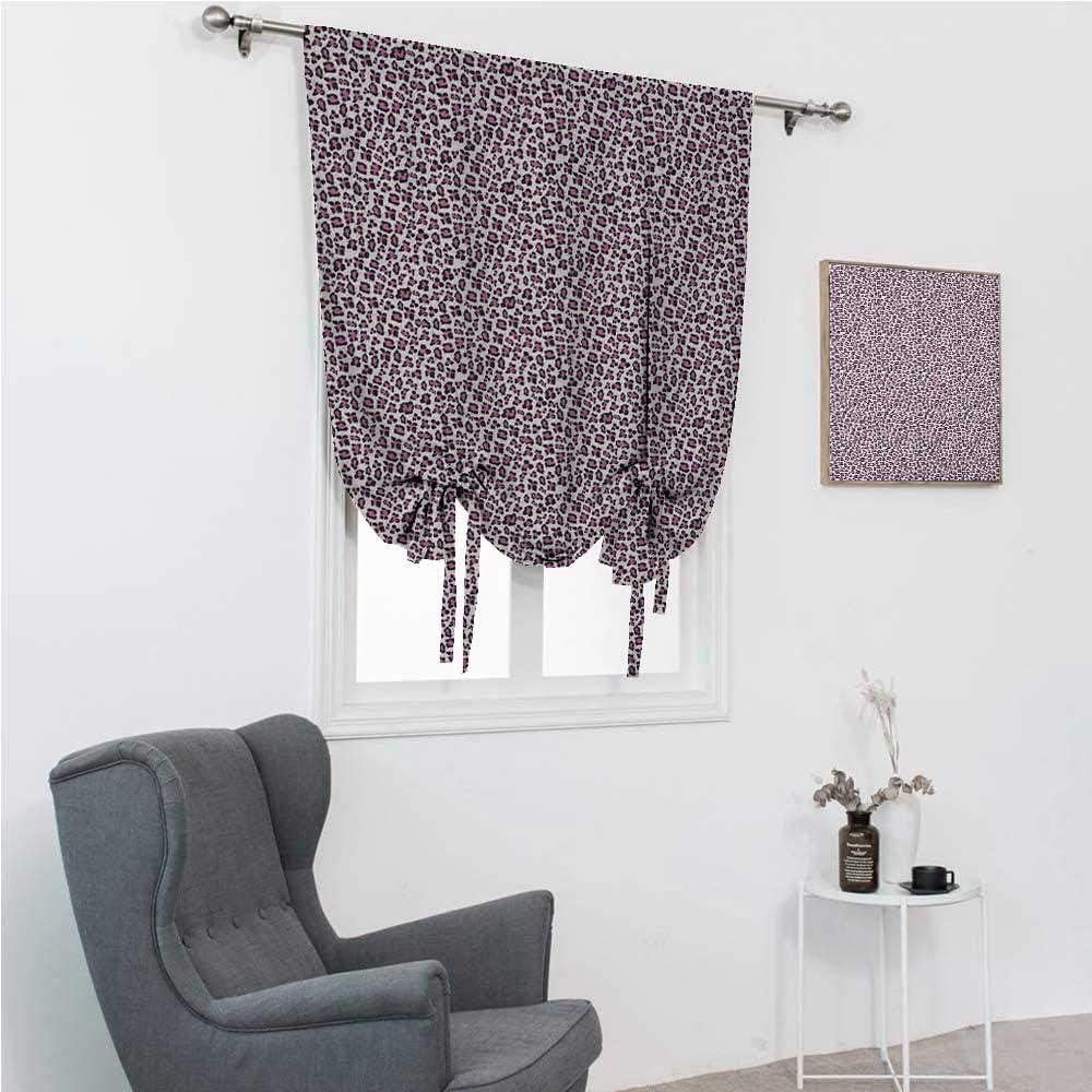 GugeABC Roman Shades Sale Leopard Print Curtain shipfree Up Tie Bathroom Shade