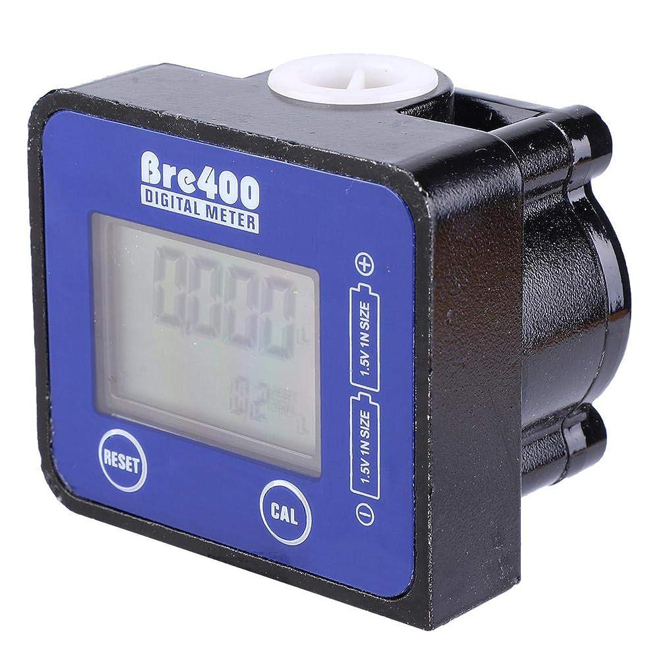エレベーターおそらくまで流量計、アルミニウム合金1/2インチデジタルLCDディスプレイ高精度燃料ディーゼル流量計水流量センサー、ガソリン、ケロシン、エンジンオイルの低流量の制御と測定(青)