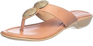 Khadim's Synthetic PVC Sole Casual Beige Decorative Slipper For Women