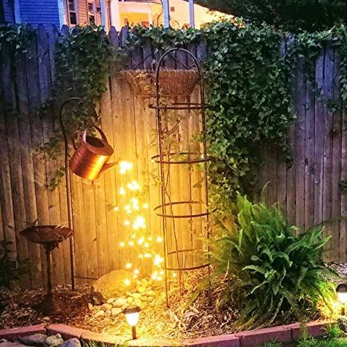 Decoración Ligera Del Arte Del Jardín Ducha De La Estrella,Luces LED De Hadas Verter Las Luces Led Estrelladas De La Regadera,Luces Decorativas Para Jardín Patio Esculturas,Shower + lamp + bracket
