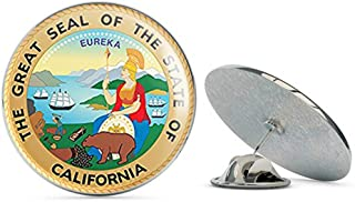NYC Jewelers Great Seal of The State of California (Logo cali ca City) Metal 0.75