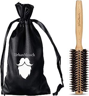 UrbanMooch Round Boar & Nylon Bristle Hair Brush for Blow Drying, Boar Bristle Round Hairbrush for Quick Blowout, Add Shin...