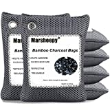 Marsheepy 6 Pack Activated Charcoal Air Purifying Bags, Bamboo Charcoal Bags, Activated Charcoal Odor Absorber, Odor Eliminators for Home, Pets, Car, Closet (200g X 6 Pack)