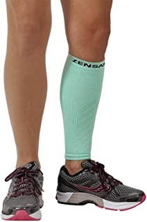 Zensah Calf/Shin Splint Compression Sleeve - Treat Shin Splints and Calf Strains - Compression Sleeve for Running, Basketball, Tennis, Hiking and Jogging - Shin Compression Sleeve (SINGLE SLEEVE)