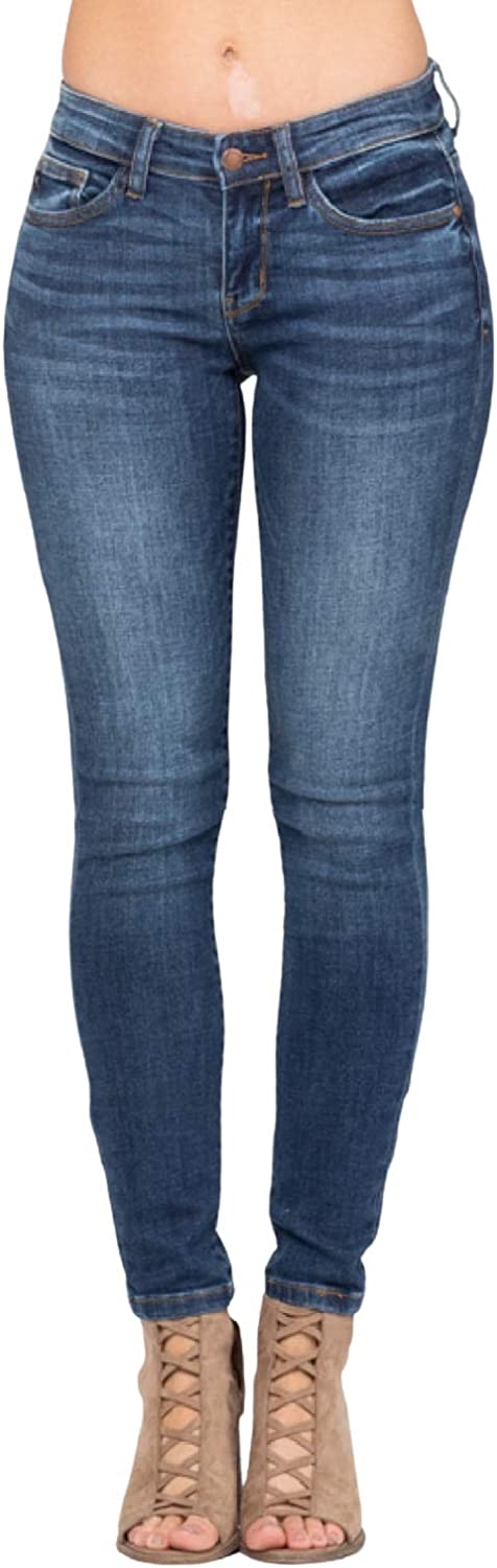 Max 66% OFF Judy Blue Max 40% OFF Mid-Rise Handsand 82106 Jeans Skinny Style: