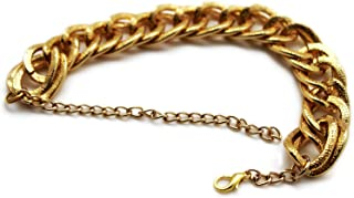 TFJ Women Western Boot Chain Chunky Metal Thick Links Bling Bracelet Bold Anklet High Heel Charm Gold