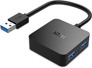 ICZI Hub USB 3.0, 4 Porte Ultra Mini Hub USB 3.0 per Trasmissione Dati Alta velocità 5 Gbps e Sincronizzazione per Ultrabo...